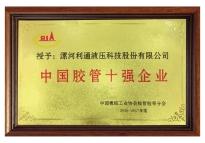 2016-2017年中国胶管十强企业